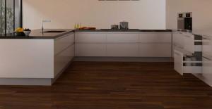Ламинат на кухне